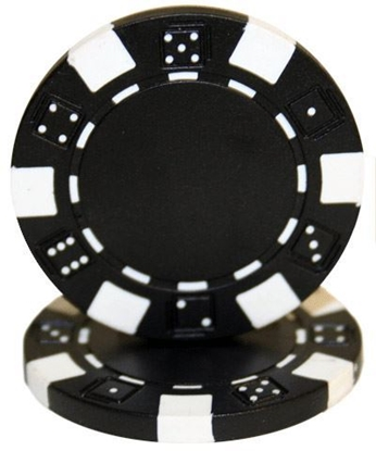 """Picture of 12803-""""Dice"""" roll of 50pcs  (11,5gr) - Black"""