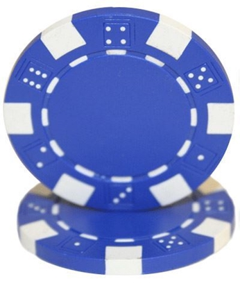"""Picture of 12806-""""Dice"""" roll of 50 pcs  (11,5gr) - Blue"""