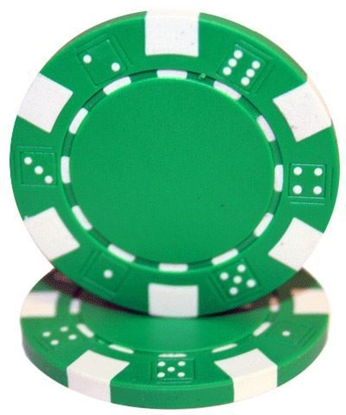 "Picture of 12802-""Dice"" roll of 50 pcs  (11,5gr) - Green"