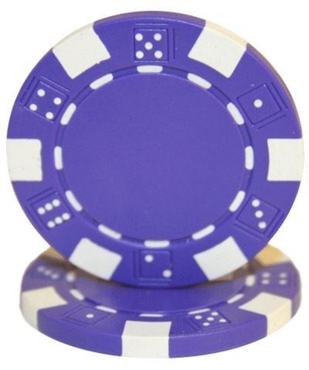 """Picture of 12809-""""Dice"""" roll of 50 pcs  (11,5gr) - Purple"""