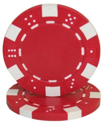 """Picture of 12807-""""Dice"""" roll of 50 pcs  (11,5gr) - Red"""