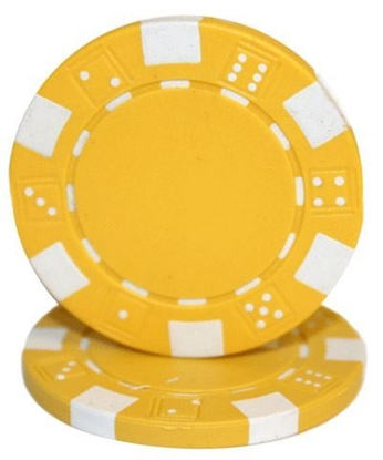 """Picture of 12801-""""Dice"""" roll of 50 pcs  (11,5gr) - Yellow"""