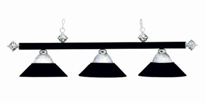 Picture of B48RIBMBST-BILLIARD LIGHT-MATTE BLK/STAINLESS