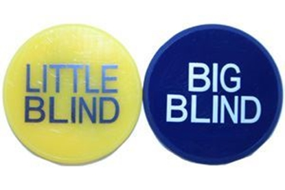 "Image de Bouton ""Big & little Blind"" -2 POUCE"