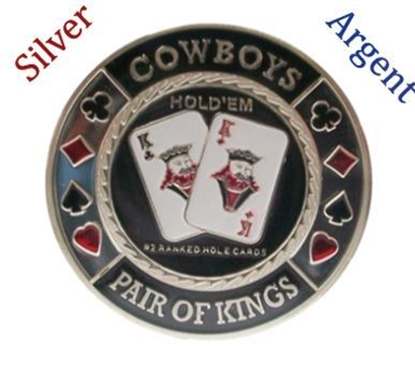 Picture of 10901-Card guard ''Cowboys'' -Silver