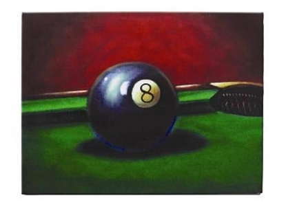 Picture of OP203-OIL PAINTING-8 BALL
