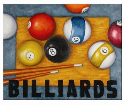 Picture of OP945-OIL PAINTING-BILLIARDS