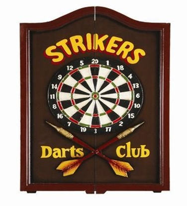 Picture of r734-Strikers Dartboard Cabinet