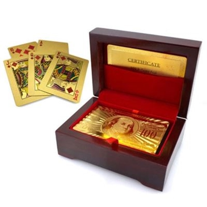 Picture of 24K Gold plated poker playing Card