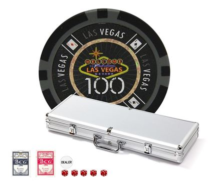 Picture of 12323  |  LAS VEGAS Chips set 500 pcs 14gr- Tournament