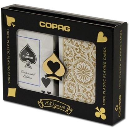 Picture of DuoPack Copag 100% plastic - Black & Gold - Bridge - Jumbo index