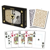 Picture of DuoPack Copag 100% plastic - Gold & Black - Poker - Jumbo  index