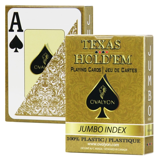 Picture of 11172 - Single deck / Ovalyon / Poker size / Jumbo index / GOLD