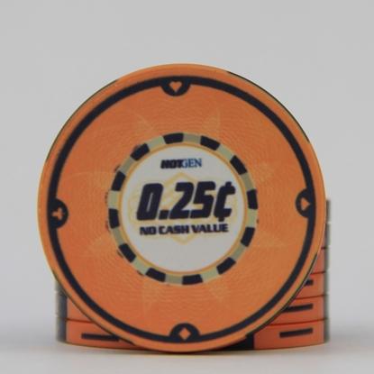 Picture of 12630-Ceramic Poker chip HotGen $0.25 /roll of 25