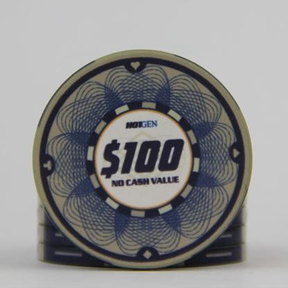 Image de Jeton Céramique 10gr -HotGen 100$ / Rouleau 25