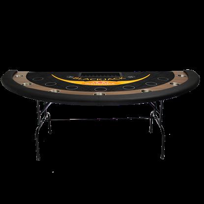 Image de TABLE À BLACKJACK AVEC PATTES PLIANTES (tapis grade casino)