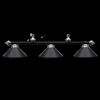 "Picture of L261006- Billiard lamp full metal shade '' Matte Black & SS"""
