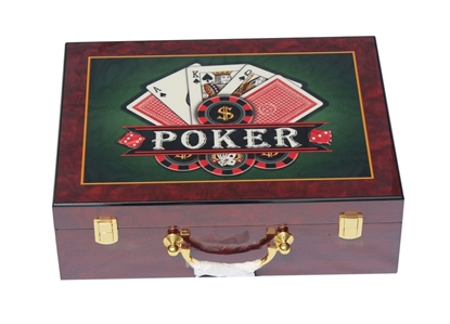Picture of 13203-Wooden Poker chips case  (cap 500pcs)
