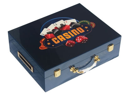 Picture of 13204-Wooden CASINO chips case  (cap 500pcs)