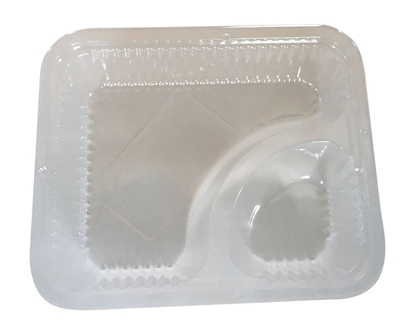 Picture of Clear Nacho tray 2 comp -125pcs