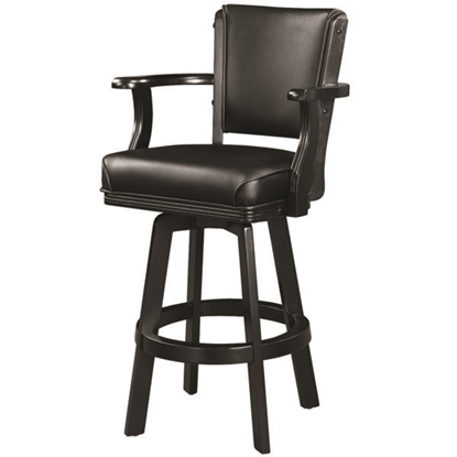 Picture of BSTL2 BLK | SWIVEL BARSTOOL WITH ARMS-BLACK