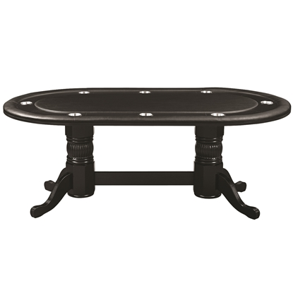 "Picture of GTBL84 BLK | 84"" TEXAS HOLD'EM GAME TABLE - BLACK"