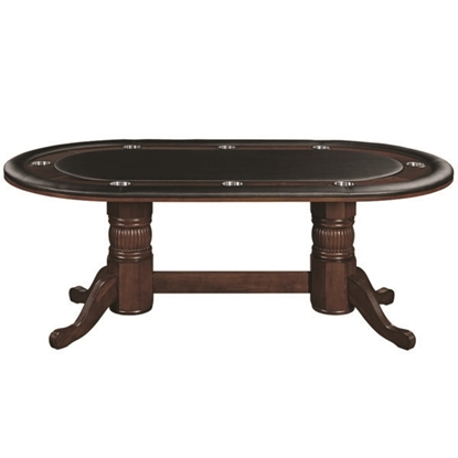 "Picture of GTBL84 CAP | 84"" TEXAS HOLD'EM GAME TABLE - CAPPUCCINO"