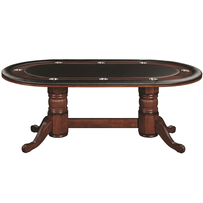 "Picture of GTBL84 CN | 84"" TEXAS HOLD'EM GAME TABLE - CHESTNUT"
