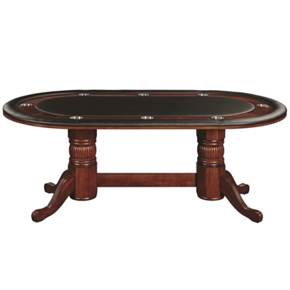 "Picture of GTBL84 ET | 84"" TEXAS HOLD'EM GAME TABLE - ENGLISH TUDOR"