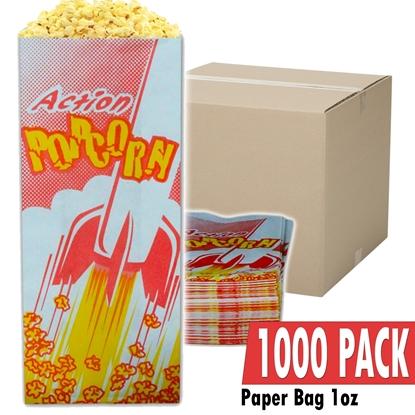 Image de 70001-Case of 1000 empty 1oz popcorn bags