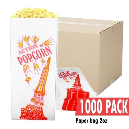 Image de Caisse de 1000 sacs vides de 2 onces de popcorn