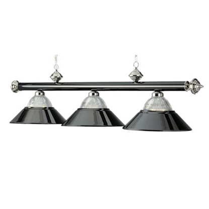 "Picture of B48-RIB BKCH/CH | 3 LT-54"" BILLIARD LIGHT-BLACK CHROME & CHROME"