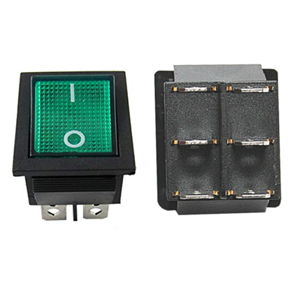 Picture of 71853 - On/Off GREEN switch 120V / 6 Pins