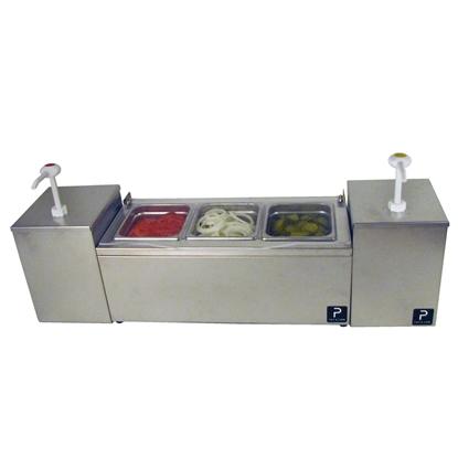 Image de Serveur de condiments Paragon Pro-Series avec unité combinée à deux pompes