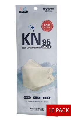 Image de Boite de 10 Masques de protection respiratoire KN95